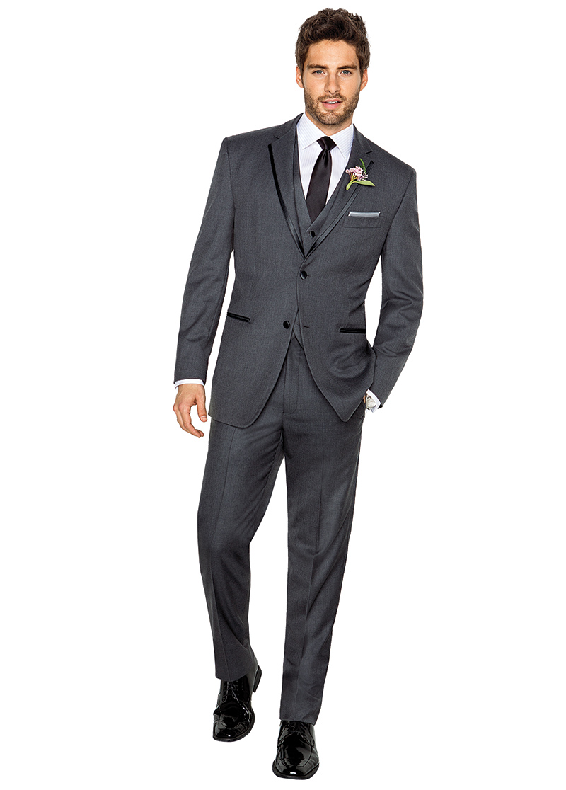 Men's Warehouse, Vera Wang, gray, $189.99.