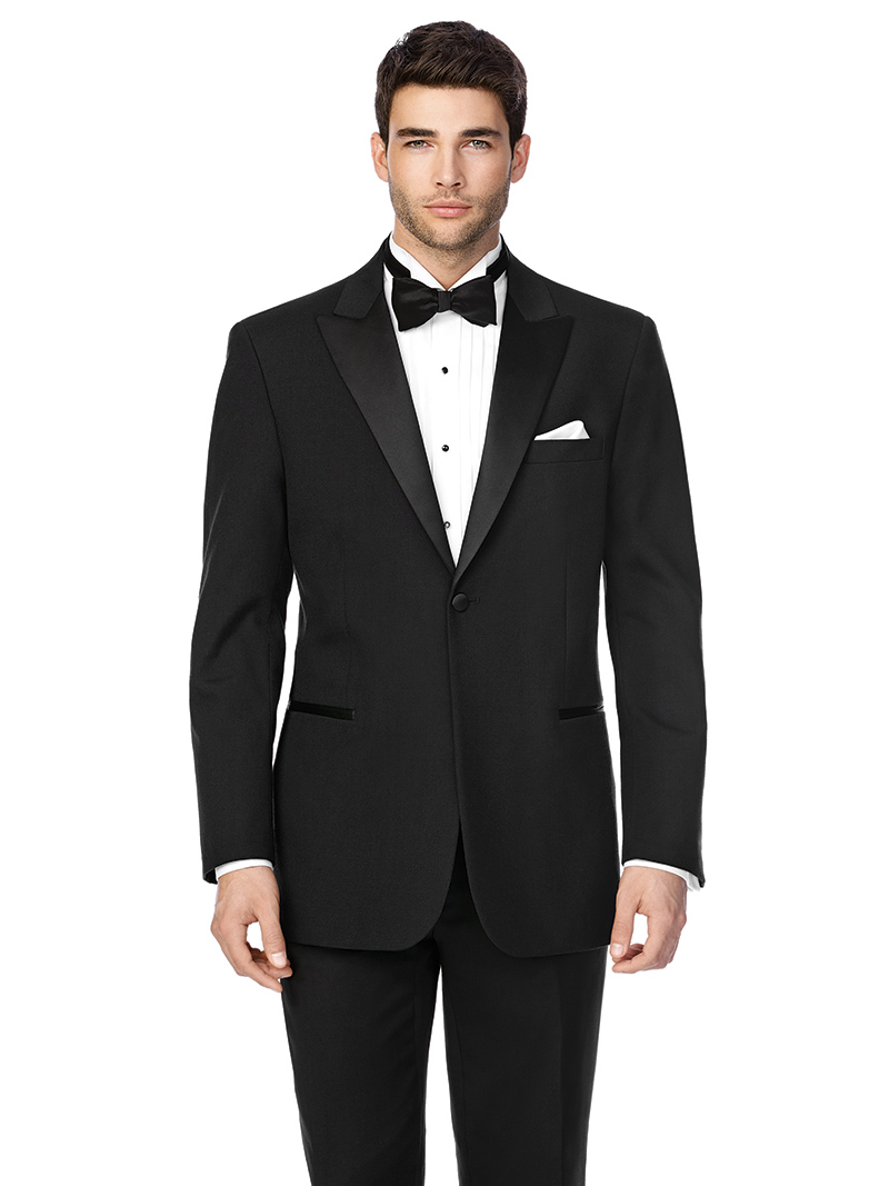 After Six, James with shawl collar, $199.