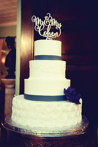The topper for Melissa and Mitchell Cohen, by Kely Phillips Photography of Dover, Del.