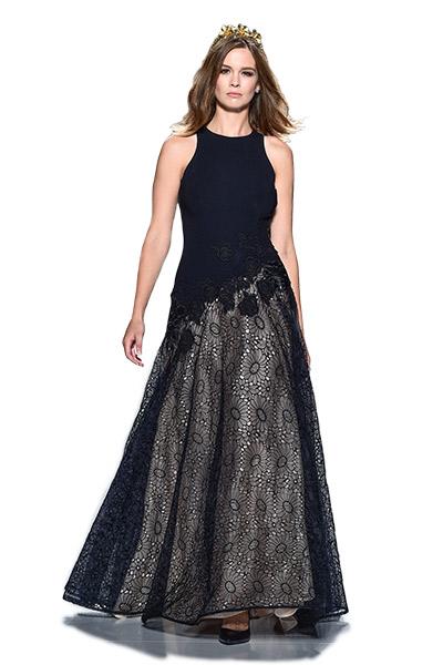 Lucian Matis Raffia floral applique gown, $2,980, Elizabeth Johns, Ardmore, Pa.