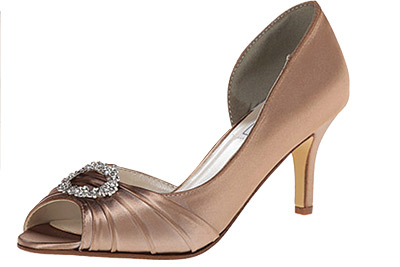 Benjamin Walk gold peep toes, $69, Claire's Fashions