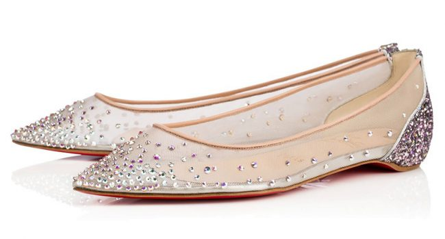 """Christian Louboutin Follies Strass Flat. $995. Available at <a href=""""http://us.christianlouboutin.com/us_en/shop/women/follies-strass-flat.html"""">Christian Louboutin</a>."""