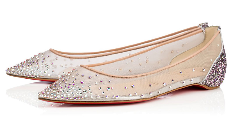 "Christian Louboutin Follies Strass Flat. $995. Available at <a href=""http://us.christianlouboutin.com/us_en/shop/women/follies-strass-flat.html"">Christian Louboutin</a>."