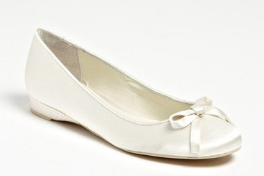 "Menbur Bridal Flat. $112.95. Available at <a href=""http://shop.nordstrom.com/s/menbur-bridal-flat/3511688?origin=category-personalizedsort&fashioncolor=IVORY"">Nordstrom</a>."