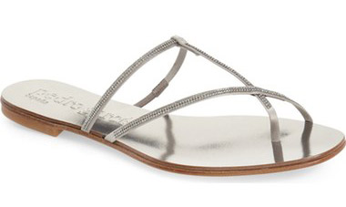 "Pedro Garcia Estee Sandal. $495. Available at <a href=""http://shop.nordstrom.com/s/pedro-garcia-estee-sandal-women/4163448?origin=category-personalizedsort&fashioncolor=TITANIUM%20SATIN""> Nordstrom</a>."