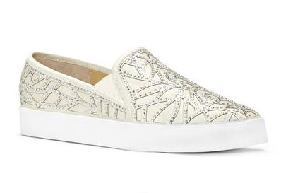 """IMAGINE VINCE CAMUTO Serena Satin Slip-On Sneakers. $125. Available at <h ref=""""http://www.lordandtaylor.com/webapp/wcs/stores/servlet/en/lord-and-taylor/shoes/special-occasion-54154--1/serena-satin-slip-on-sneakers"""">Lord & Taylor</a>."""