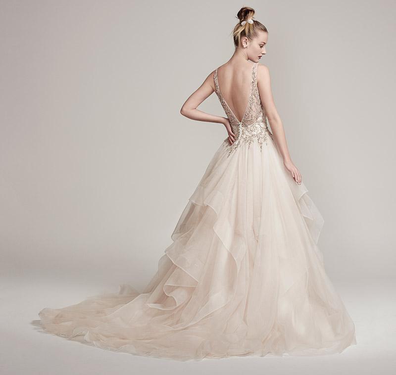 12 Wedding Dresses That Flirt With Color – Delaware Main Line Bride