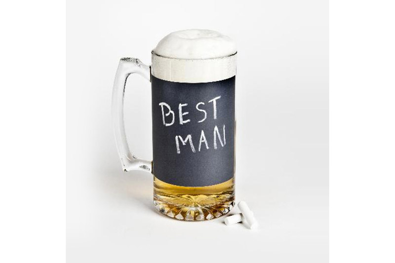 Give each groomsman his own beer mug that's sure to stand out at parties and barbecues.  $9.95, themanregistry.com