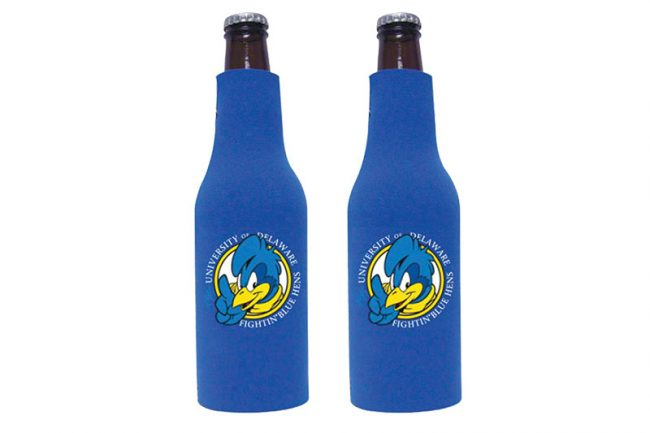 5. Keep Kool: The blue hen is everywhere in these parts but most out-of-towners are unfamiliar with the flighty fowl. Head back to UD's campus to score some mighty Blue Hens paraphernalia, like a koozie to keep that yummy beer cold. UD Athletic Head Bottle Koozie, $5.99; www.national5and10.com