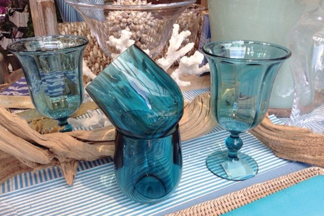"""<strong>6. Acrylic Barware</strong> """"Couples are registering for acrylic wine glasses and frozen martini glasses—they like them because they are casual and can be thrown in the dishwasher,"""" says Roscosky. Caspari acrylic glasses, $6.50 each,  The Wooden Indian."""