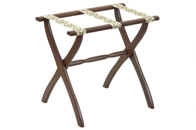 <strong>3. Luggage Rack</strong>  Perfect for your new and improved guest room. GateHouse Furniture luggage rack, $128, The Little House Shop.