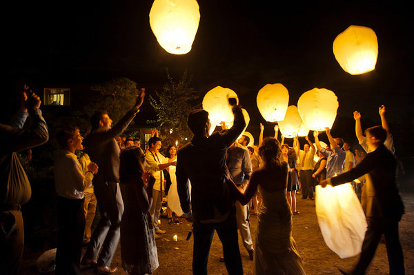 <strong>Lanterns or luminaries</strong>  For the adventurous couple who wants the guests to experience a good time from the first kiss to the bouquet toss, wish lanterns—an Asian tradition for good luck— are the perfect curtain call to a night of nuptials.