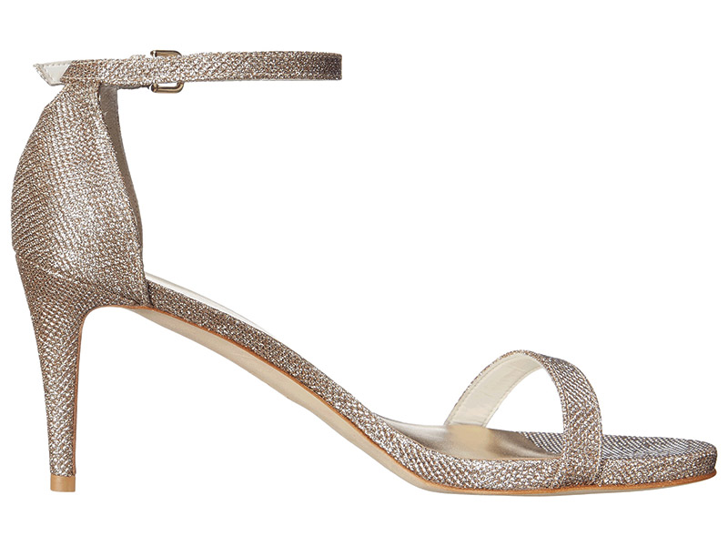 The NuNaked Sandal By Stuart Weitzman | Dance and dazzle till dawn in this single-sole stunner. The practical heel is comfortable yet still sexy. You can personalize your pair with your name and wedding date for a one-of-a-kind keepsake. Available in three colors, $398, www.stuartweitzman.com, Stuart Weitzman, 1711 Walnut St., Philadelphia, (215) 640-0400.