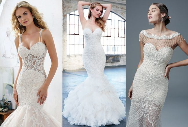 These 4 wedding gowns were made for hourglass body types for Wedding dresses for hourglass figures