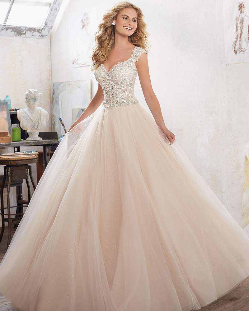 d498f00cb3d1 An A-line dress with a sparkly waist detail is also A-OK. Tricky  A bride  seeking proportionality and balance may want to avoid trumpet