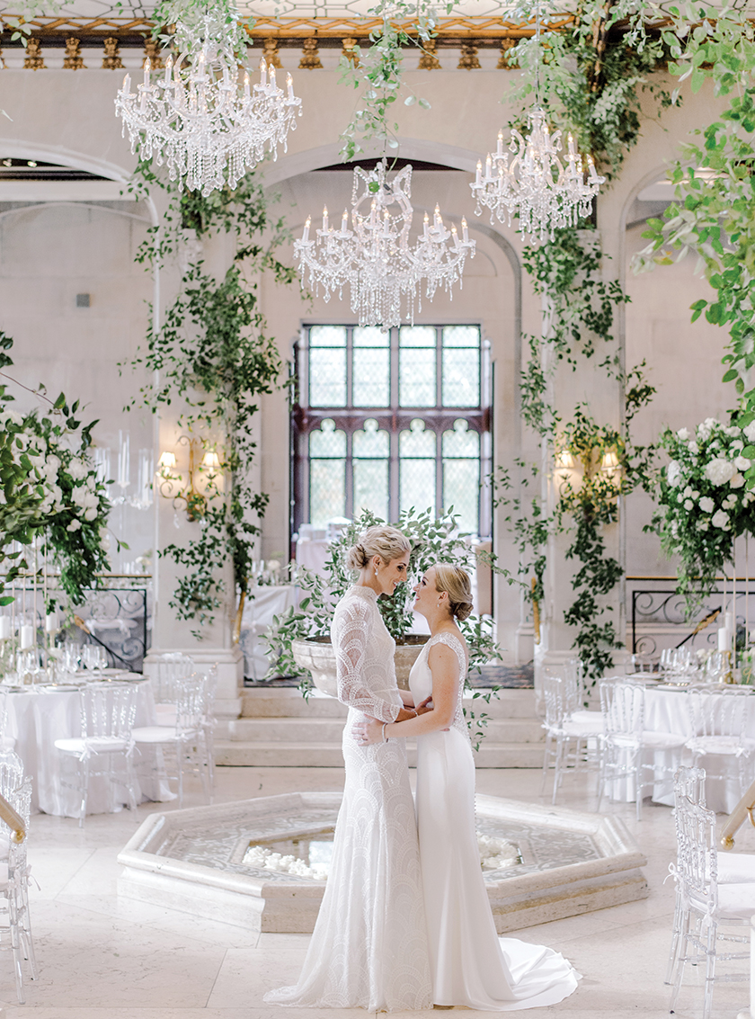 Inside elena delle donne and amanda cliftons elegant wedding rebecca yale photography junglespirit Image collections