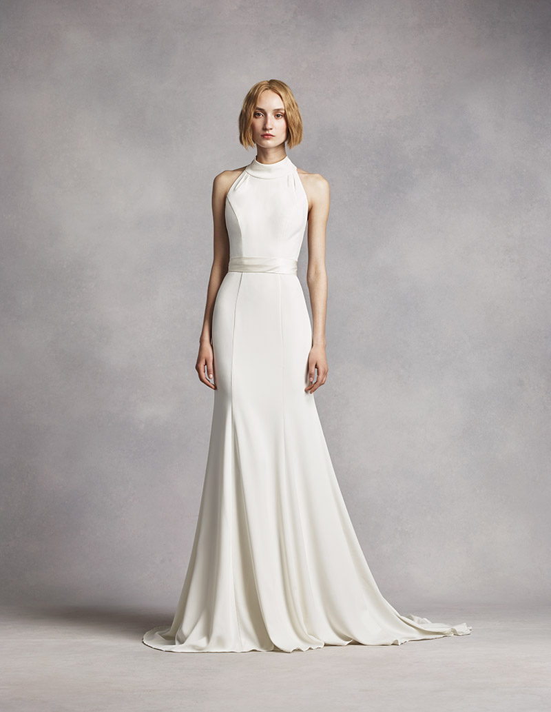 a1ffece9b6e5 White By Vera Wang Draped Wedding Dress