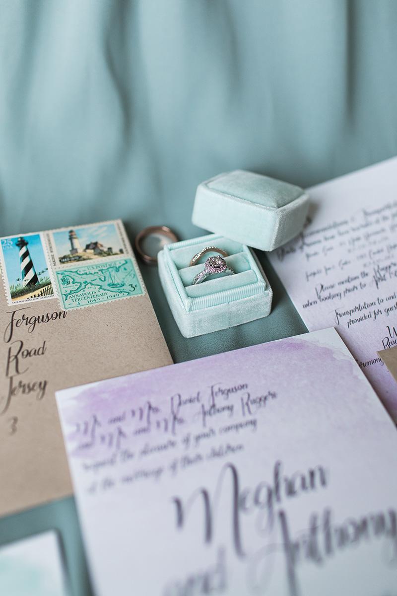 Ruggeri Rehoboth Beach Wedding Rings and Invitations