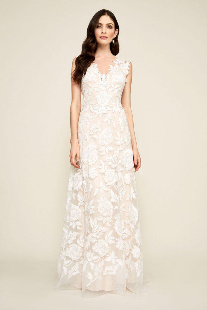 Cecila-A-Line wedding dress by Tadashi Shoji