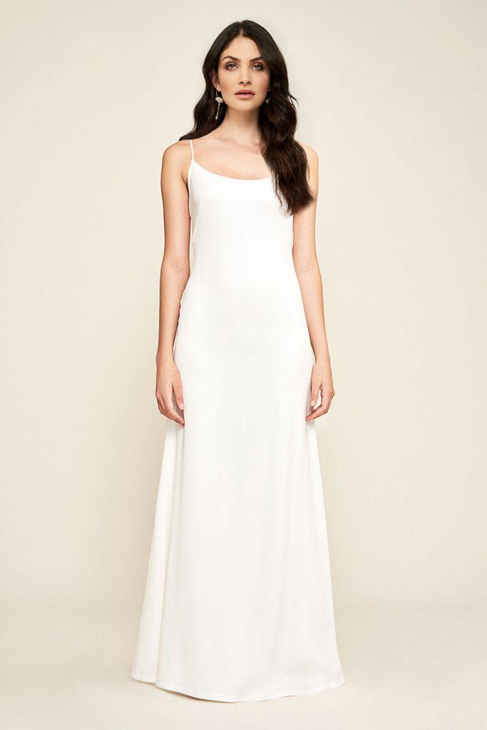Libby Crepe Slip wedding dress by Tadashi Shoji