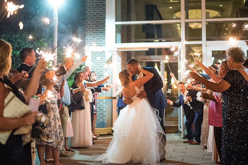 Wedding sparkler send off Hyatt Regenct Cambridge