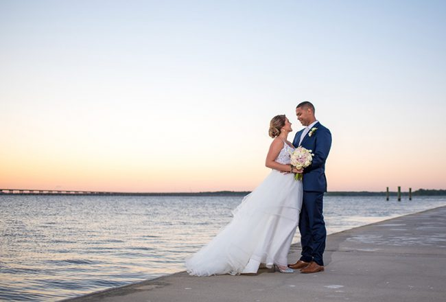 Sunset Maryland Eastern Shore Wedding