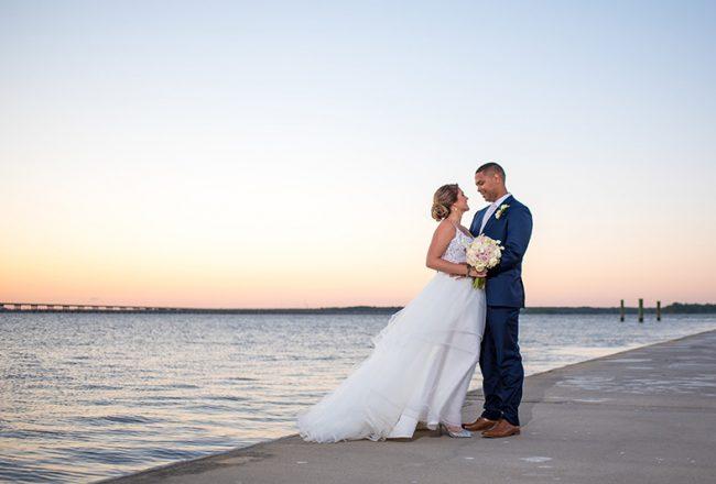 Sunset Maryland Eastern Shore Wedding